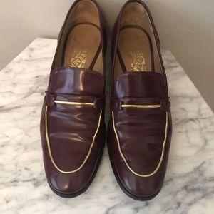 Ferragamo loafers burgundy 9.5